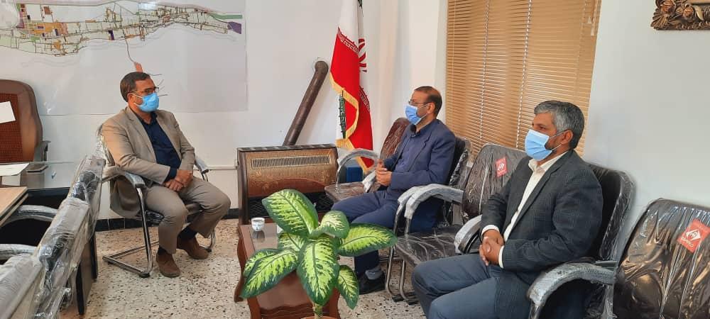 دیدار ریاست زندان فردوس با شهردار باغستان
