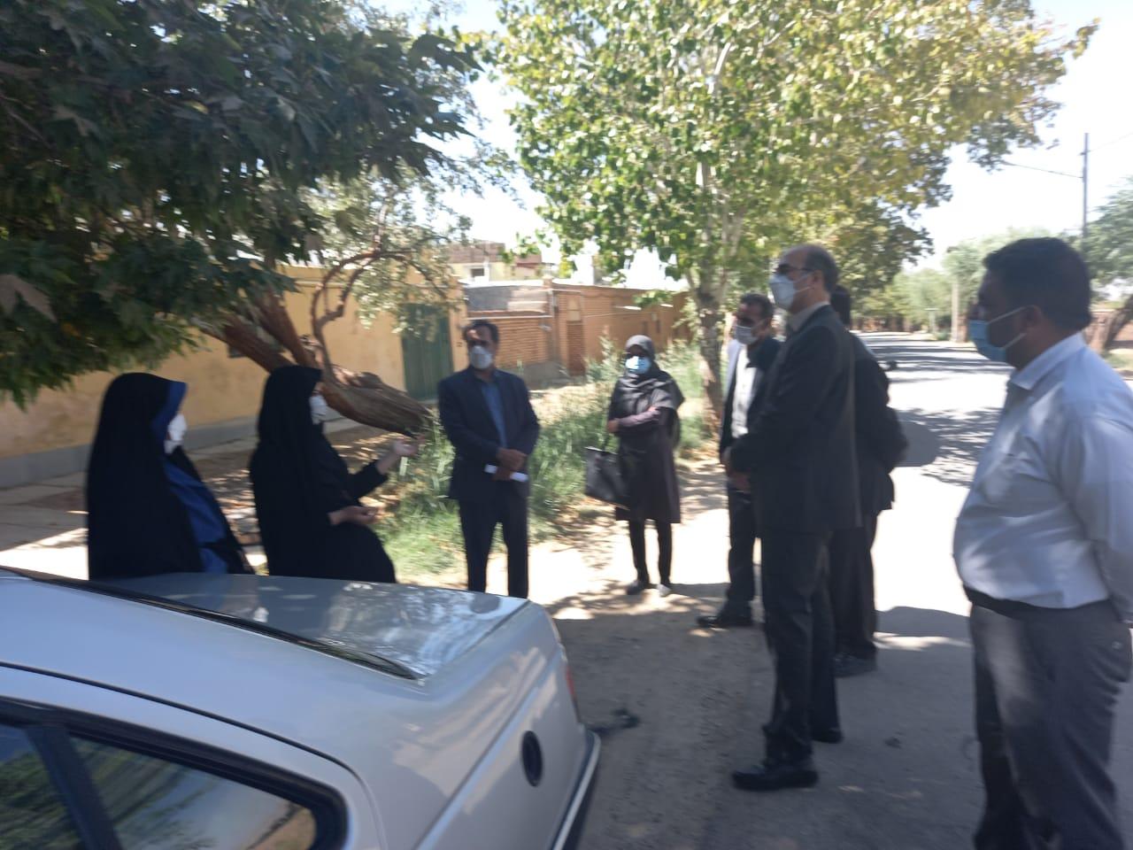بازدید فرماندار شهرستان فردوس جناب مهندس حلاج مقدم از پروژه های عمرانی شهرداری در سطح شهر باغستان
