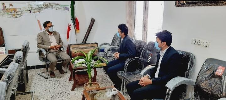 بمناسبت سالروز تاسیس بانک صادرات؛دیدار ریاست بانک صادرات جناب آقای علمدار با شهردار باغستان