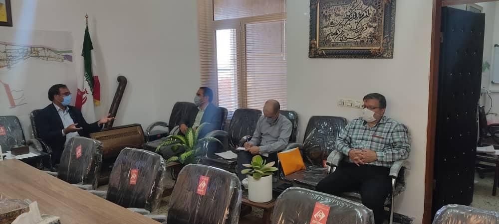 دیدار مدیرعامل و اعضای هیئت مدیره شرکت توسعه عمران با شهردار باغستان
