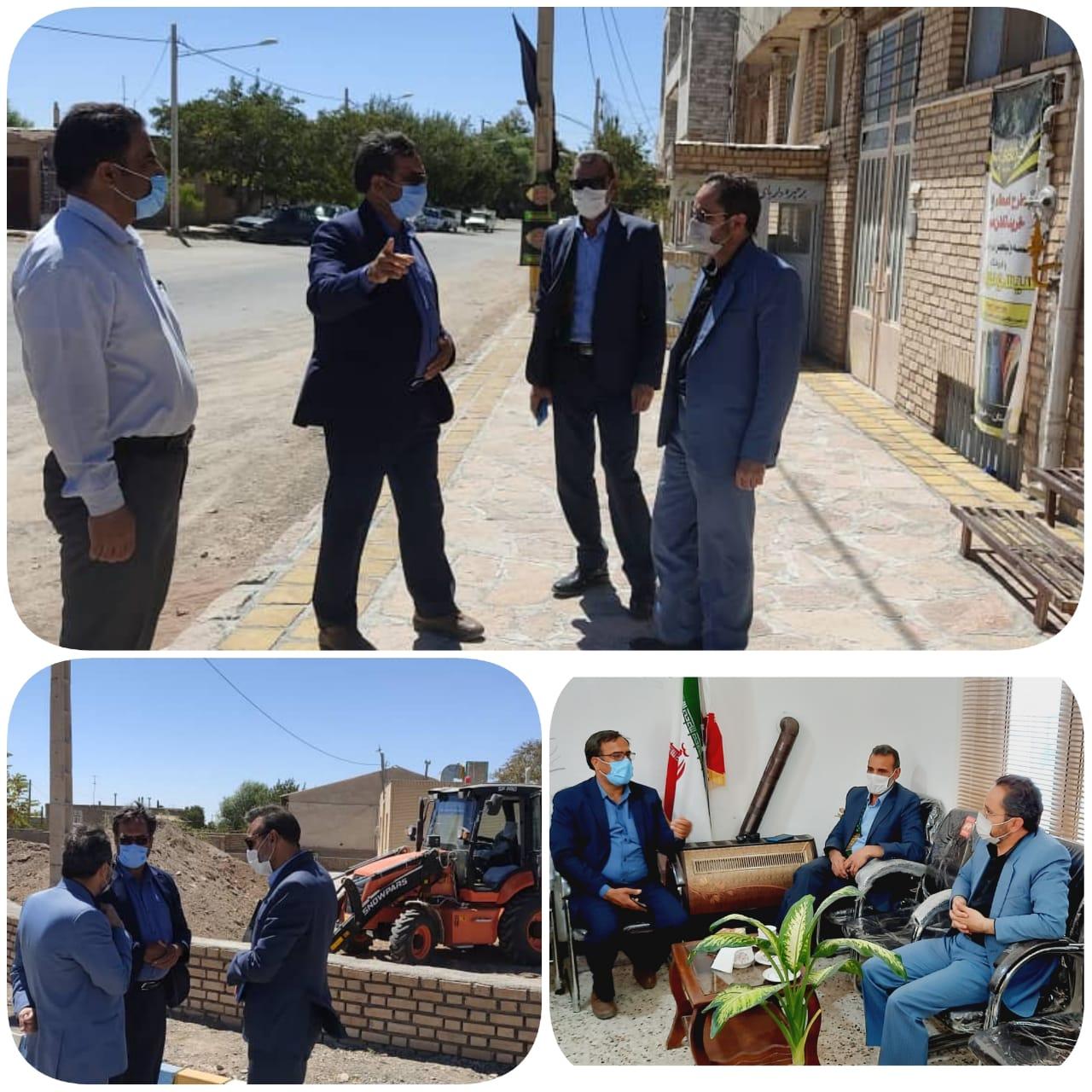 بازدید کارشناس دفتر فنی استانداری جناب آقای مهندس ابراهیم آبادی از پروژه های در حال انجام شهرداری باغستان