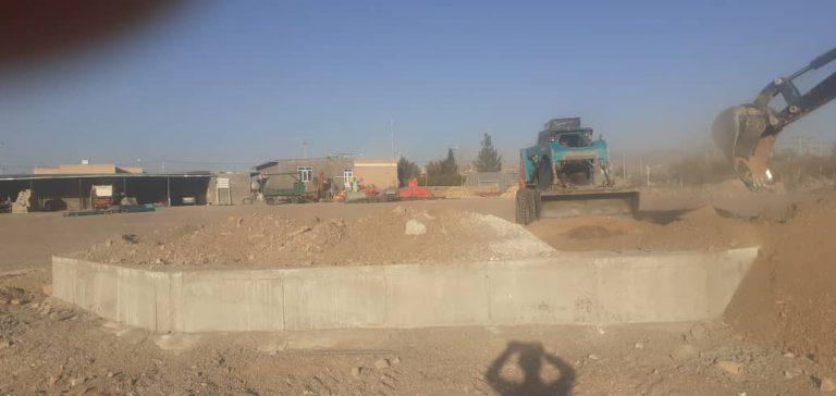 گزارش تصویری;شن ریزی مزار شهدای گمنام