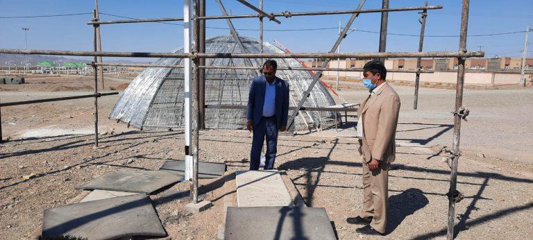 بازدید مهندس تقی زاده (از کارشناسان سازمان مدیریت وبرنامه ریزی استان) از پروژه های سطح شهر باغستان
