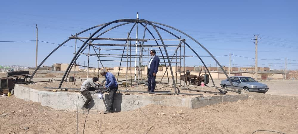 بازدید شهردار(مهندس قلی زاده) از پروژه المان شهدای گمنام